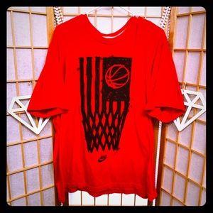 NIKE RED BASKETBALL T-SHIRT